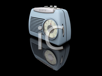 Royalty Free Clipart Image of a Retro Radio
