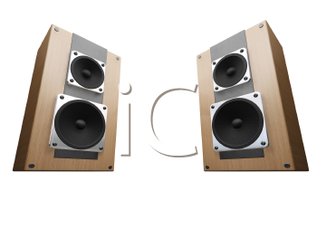 Royalty Free Clipart Image of Speakers