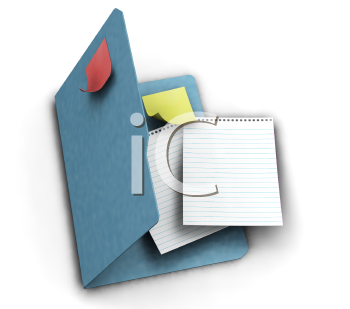 Royalty Free Clipart Image of a Stationery Folder