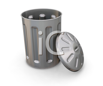 Royalty Free Clipart Image of a Trash Can