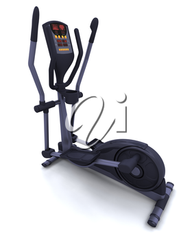 3D render of a crosstrainer isolated on white