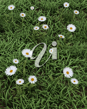 3D render of spring flowers in bloom