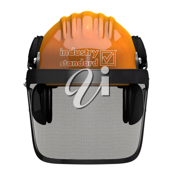 Royalty Free Clipart Image of a Hardhat with Visor
