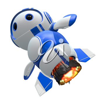 Blueberry bot with jet upgrades. Faster, tougher.