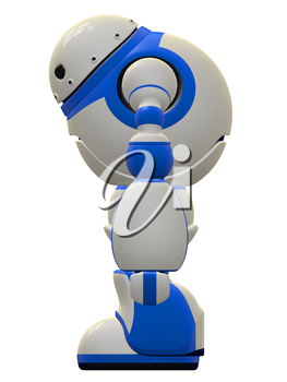 Side view of the software security robot concept.