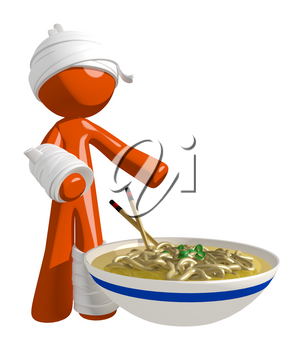 Personal Injury Victim Ready to Eat Noodles