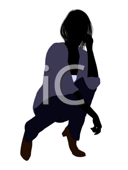 Royalty Free Clipart Image of a Casual Female