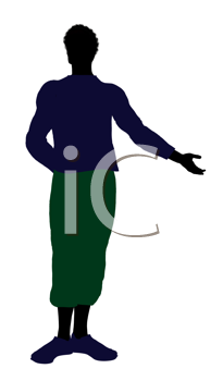Royalty Free Clipart Image of a Casually Dressed Man