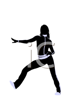 Royalty Free Clipart Image of an Urban Dancer