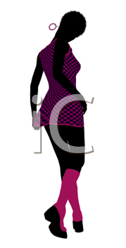 Royalty Free Clipart Image of a Go-Go Dancer