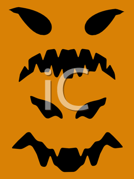 Royalty Free Clipart Image of a Halloween Face