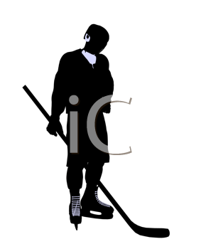 Royalty Free Clipart Image of Hockey Player