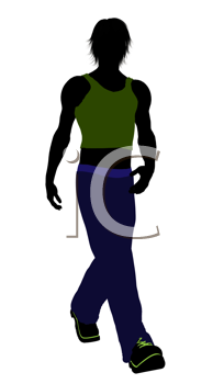Royalty Free Clipart Image of a Teenager