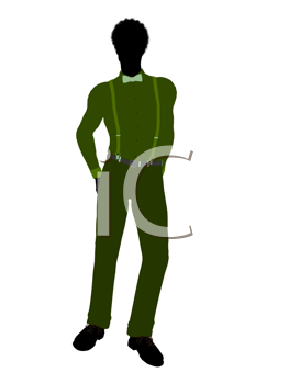 Royalty Free Clipart Image of a Guy in a Suit