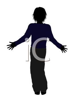 Royalty Free Clipart Image of a Teenage Boy