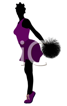 Royalty Free Clipart Image of a Cheerleader
