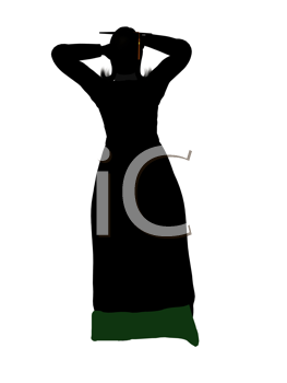 Royalty Free Clipart Image of a Female Graduate