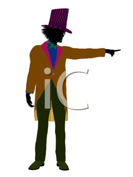 Royalty Free Clipart Image of a Man in a Top Hat