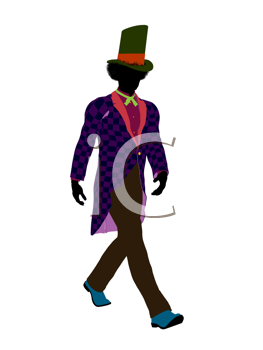 Royalty Free Clipart Image of a Man in a Hat