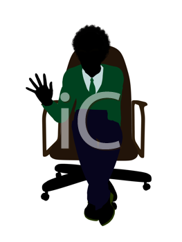 Royalty Free Clipart Image of a Boy in a Chair