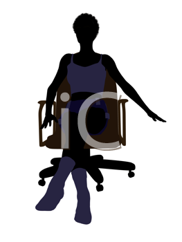 Royalty Free Clipart Image of a Woman in Underwear