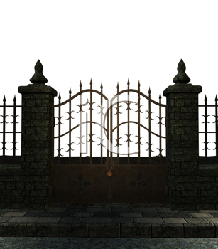 Royalty Free Clipart Image of a Gate