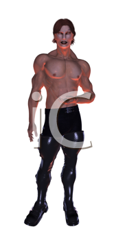 Royalty Free Clipart Image of a Male Goth