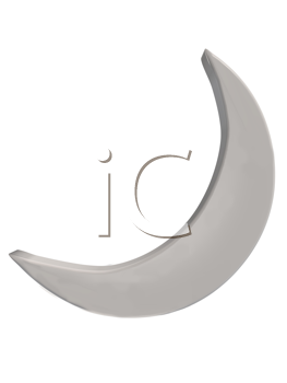 Royalty Free Clipart Image of a Crescent Moon