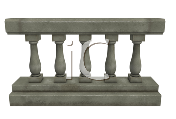 Royalty Free Clipart Image of a Railing