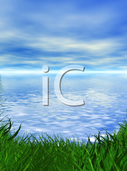 Royalty Free Clipart Image of a Landscape