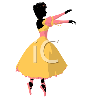 Royalty Free Clipart Image of a Ballet Dancer