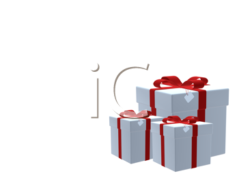 Royalty Free Clipart Image of a Group of Gifts