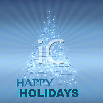 Royalty Free Clipart Image of a Christmas Greeting