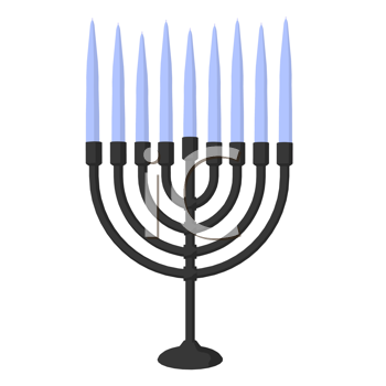Royalty Free Clipart Image of a Menorah