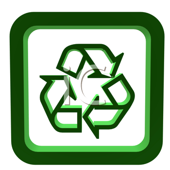 Royalty Free Clipart Image of a Recycling Symbol