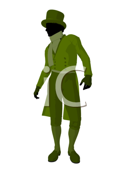 Royalty Free Clipart Image of a Victorian Man