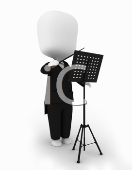 3D Illustration of a Music Conductor