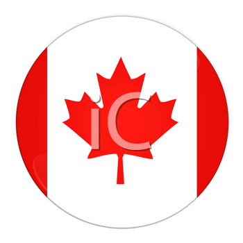 Abstract illustration: button with flag from Canada country