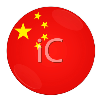 Abstract illustration: button with flag from China country