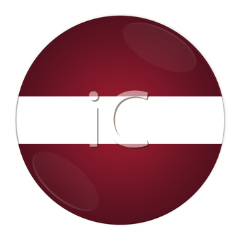Abstract illustration: button with flag from Latvia country