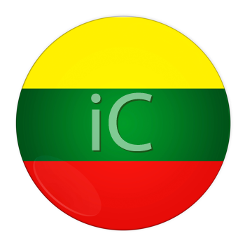 Abstract illustration: button with flag from Lithuania country