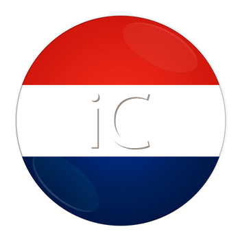 Abstract illustration: button with flag from Luxembourg country