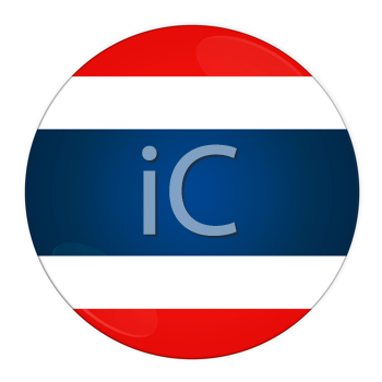 Abstract illustration: button with flag from Thailand country