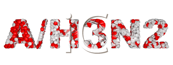Royalty Free Clipart Image of Pills Spelling Out H3N2