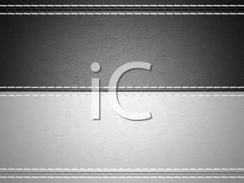 Royalty Free Clipart Image of a Stitched Leather Background