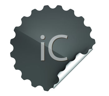 Royalty Free Clipart Image of a Black Sticker