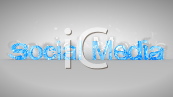 Royalty Free Clipart Image of the Words Social Media