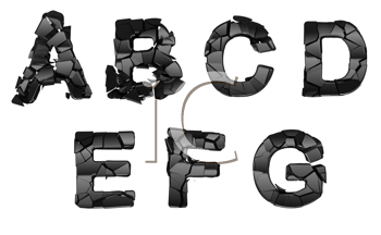Royalty Free Clipart Image of Abstract Font