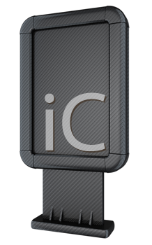 Royalty Free Clipart Image of a Carbon Fiber Billboard