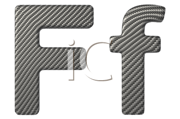 Royalty Free Clipart Image of a Capital and Lowercase F